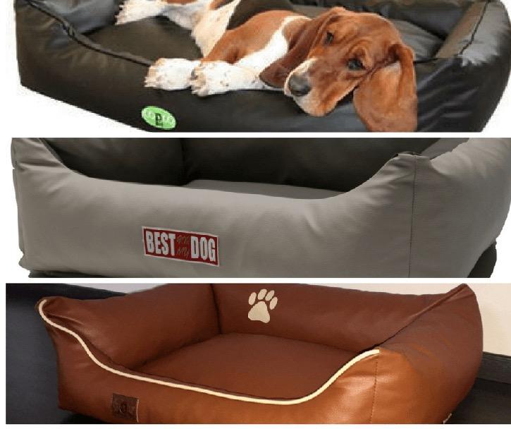 Hundebetten aus Kunstleder